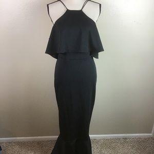 ASOS Black Fit & Flare Black Dress